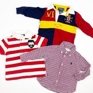 Ralph Lauren Bundle Lot of 9 M Tops